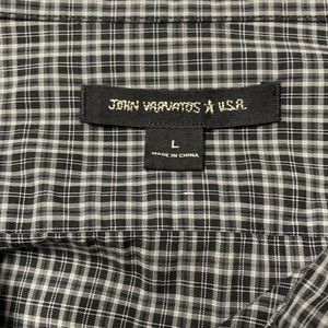 John Varvatos Shirts - John Varvatos | Black Plaid Checkered Button Down